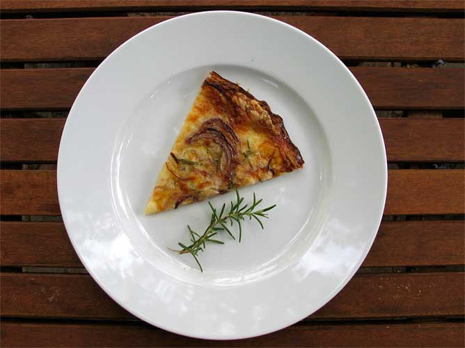 Tomme, Potato, Rosemary and Red Onion Tart